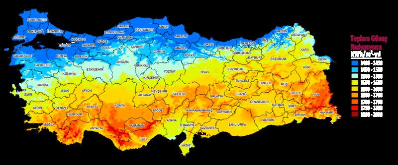 Türkiye'nin Güneş potansiyeli